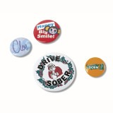 Cadeau d'affaire Badge bouton Budget (5,5 cm)